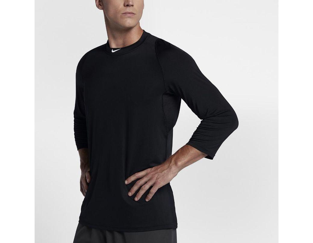 b2f2d5896ad437 Lyst - Nike Pro Men s 3 4 Sleeve Baseball Top in Black for Men
