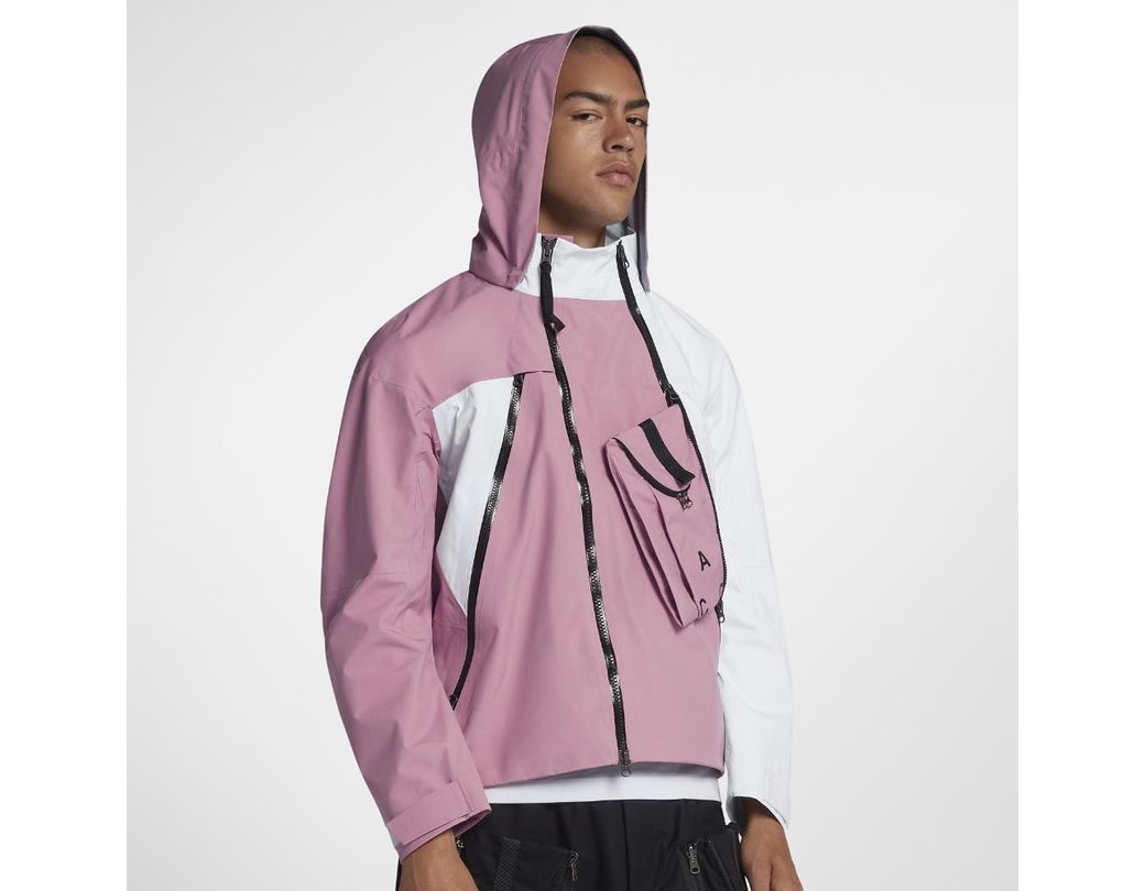 67bf2ea578eb0 Lyst - Nike Lab Acg Gore-tex Deploy Men s Jacket in Pink for Men ...
