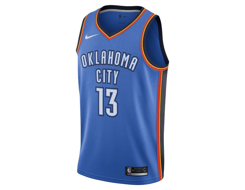 8ea0a98caf53 Lyst - Nike Paul George Icon Edition Swingman Jersey (oklahoma City  Thunder) Men s Nba Connected Jersey in Blue for Men