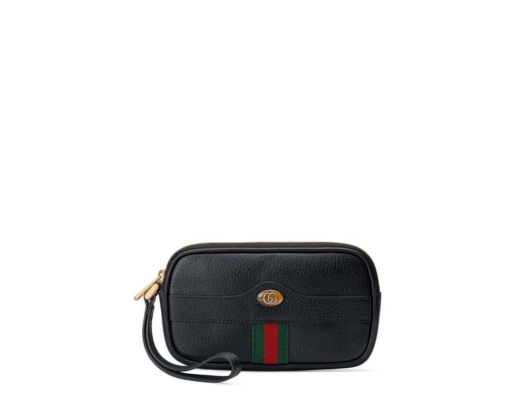 5c55d1f6120256 Lyst - Gucci Ophidia Leather Iphone Case in Black