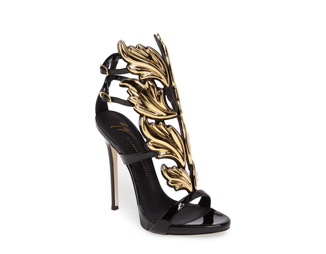 006ede351542 Long-Touch to Zoom. Long-Touch to Zoom. 1  2. Giuseppe Zanotti - Metallic  Cruel Wing Patent Leather Sandal - Lyst ...