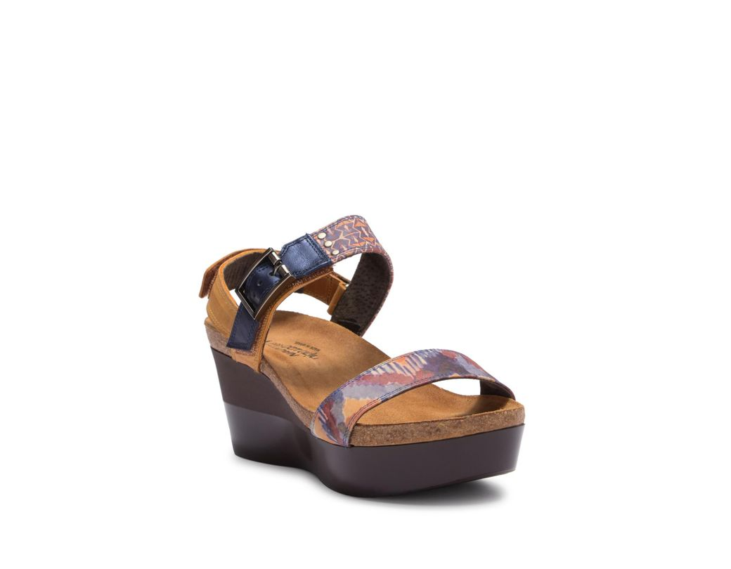 f97cfbd896d1 Lyst - Naot Alpha Platform Wedge Sandal Sandal (women) in Blue