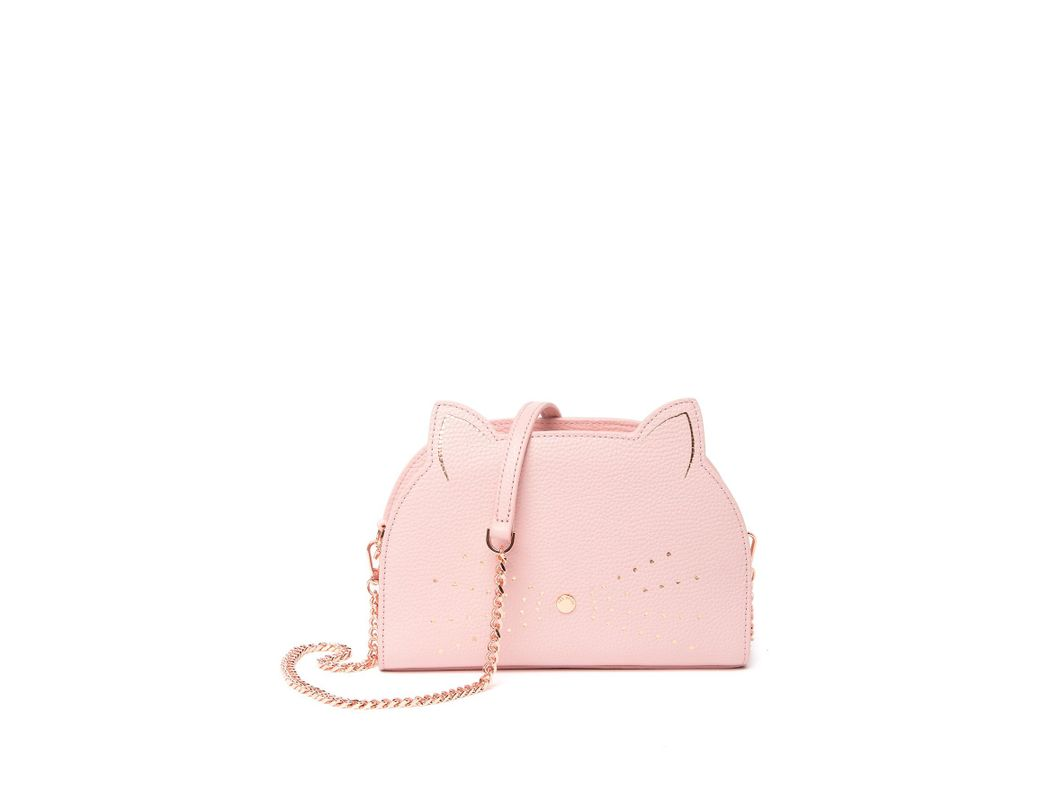 12d2020fcdd9 Lyst - Ted Baker Kirstie Cat Leather Crossbody Bag in Pink