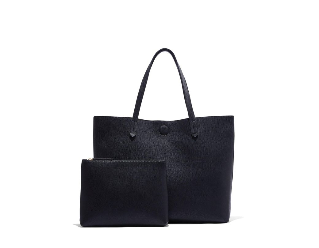 67884ae79bc38 Lyst - New York & Company Black Pebblegrain Tote Bag in Black