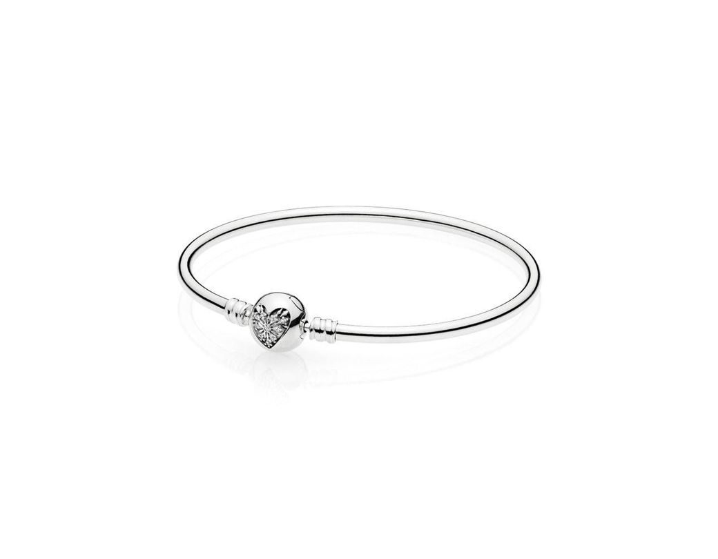 e7722e9f9 Lyst - PANDORA Moments Sterling Silver Bangle Bracelet | Heart Of ...