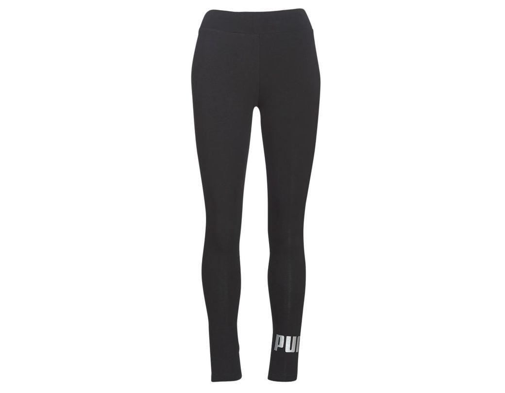 25f69443dc28e5 PUMA Ess Logo LEGGING Women's Tights In Black in Black - Lyst