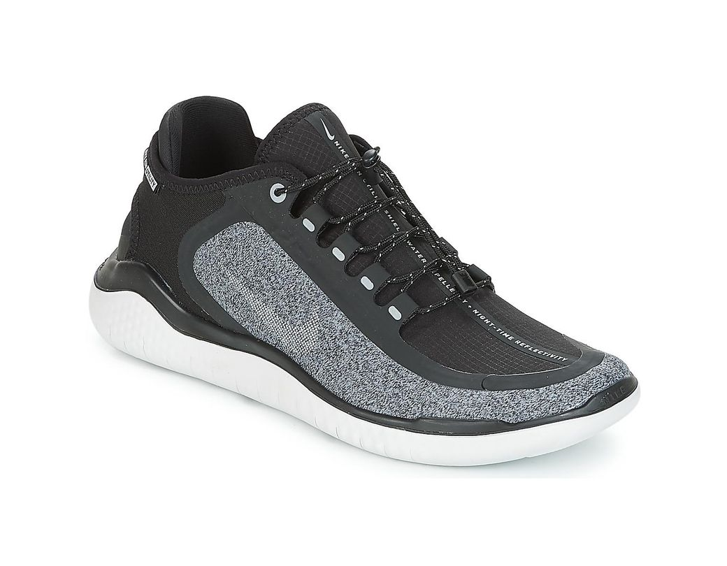 369cac55332 Nike Free Run 2018 Shield Men s Running Trainers In Black in Black ...