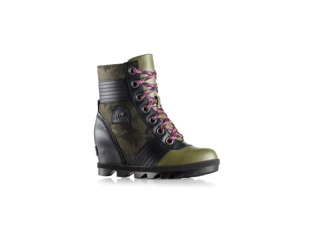 4b3908fadd891 Lyst - Sorel Kid's Lexie Wedge Camo Boots in Green