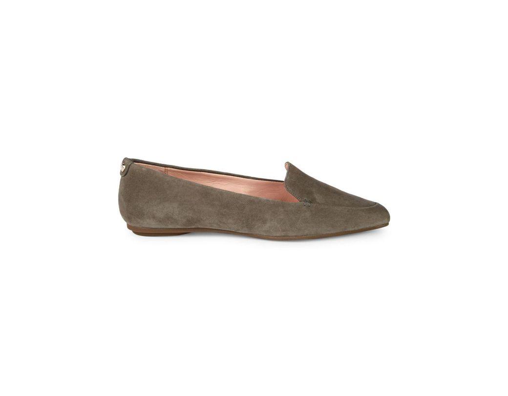 bae4b2fa0073 Lyst - Taryn Rose Faye Suede Loafers in Gray - Save 50%