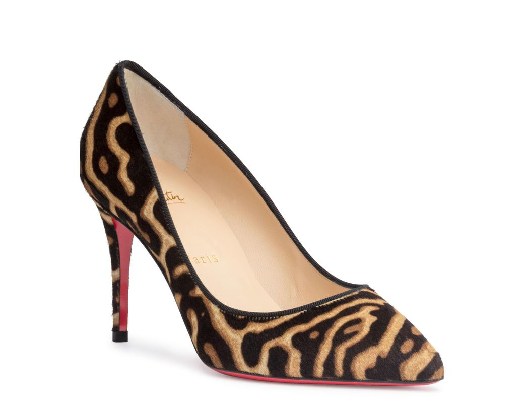 471774c3ad Christian Louboutin Pigalle Follies 85 Pony Miaou Pumps - Lyst
