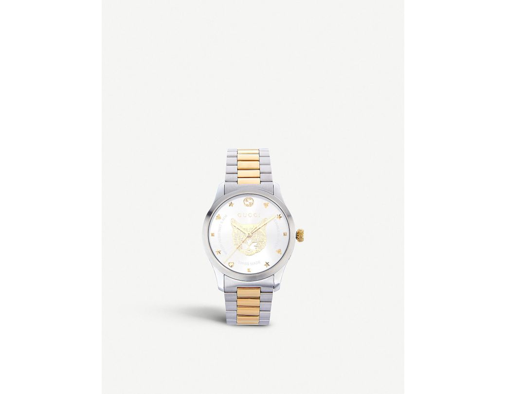 c11e726f7b0 Lyst - Gucci Ya1264074 G-timeless Stainless Steel And Gold-plated Watch in  Metallic - Save 5%