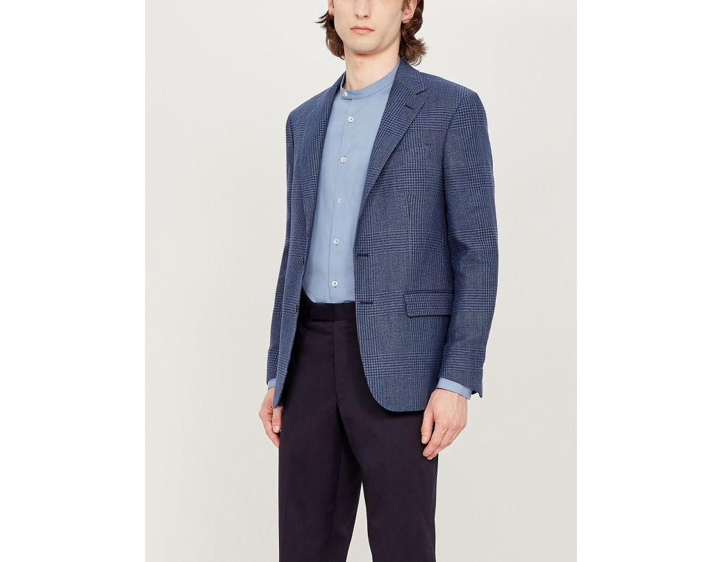 71dd3057 Polo Ralph Lauren. Men's Blue Single-breasted Regular-fit Linen And Cotton-blend  Blazer