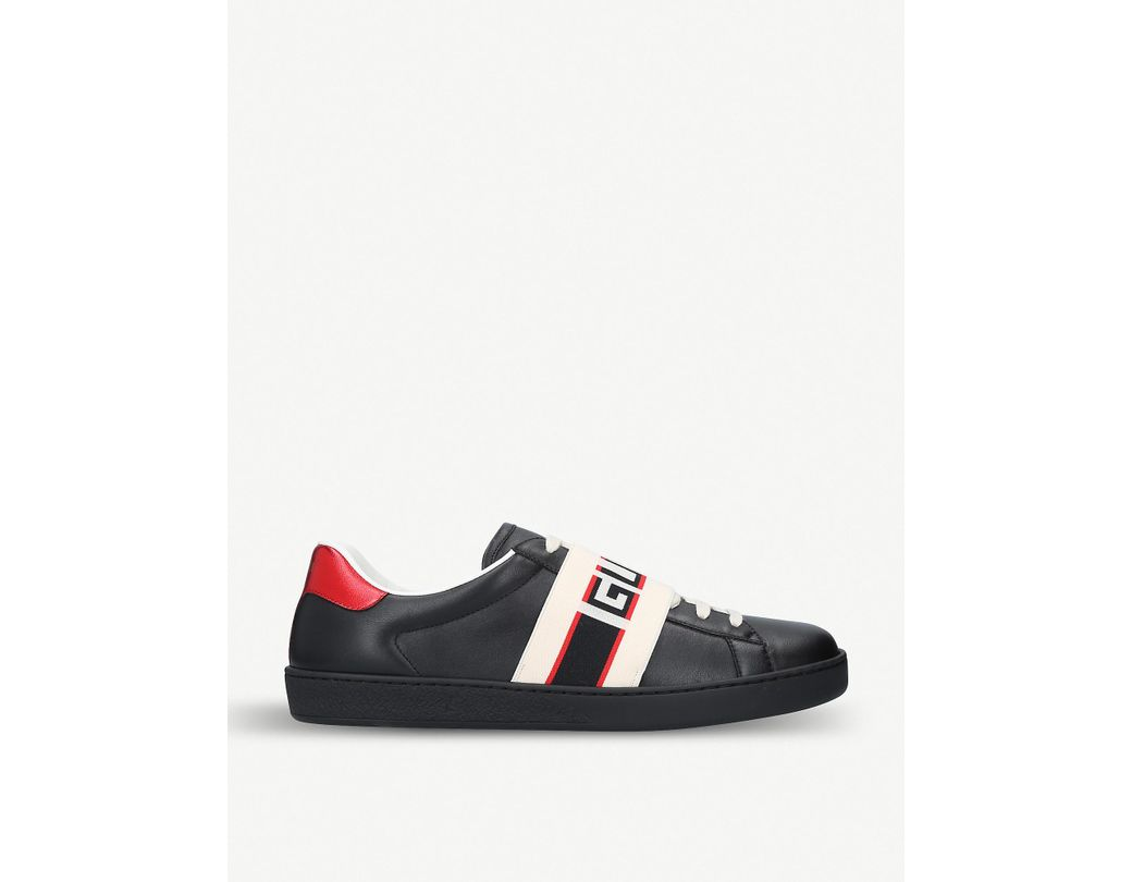 4831c910bd1 Lyst - Gucci Elastic Ace Sneakers in Black for Men - Save 24%