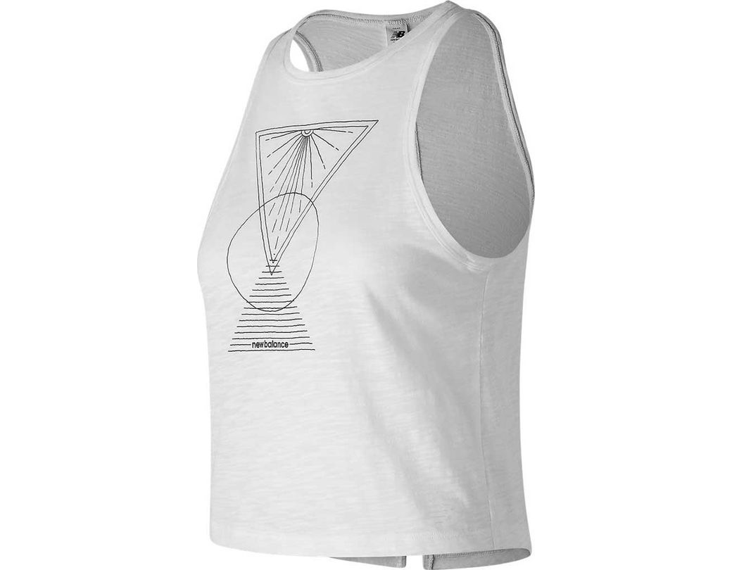 578726bcf646b Lyst - New Balance Well Being Cropped Tank in White - Save 2%