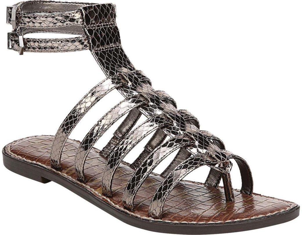 c56e701dd2cc Lyst - Sam Edelman Gilda Gladiator Sandal in Metallic