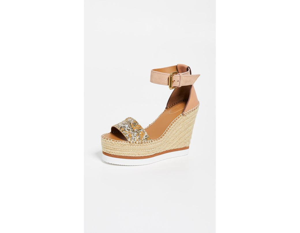 f59510b12136 Lyst - See By Chloé Glyn Wedge Espadrilles in Natural - Save 30%