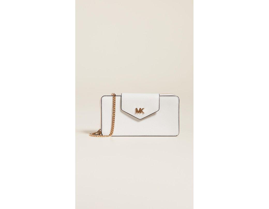 2337bfe1c560 Lyst - MICHAEL Michael Kors Small Convertible Phone Crossbody Bag in ...