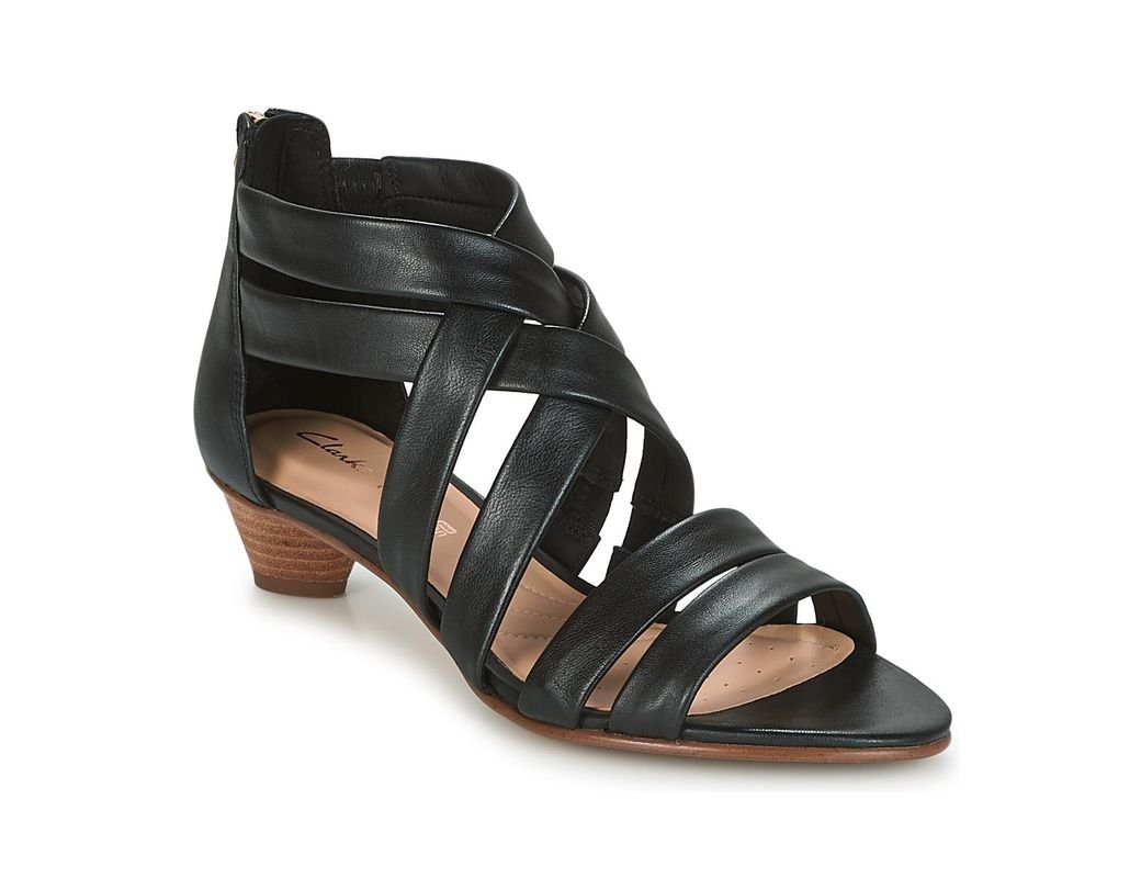 c7dfc3ed8f2f Clarks Mena Silk Sandals in Black - Lyst