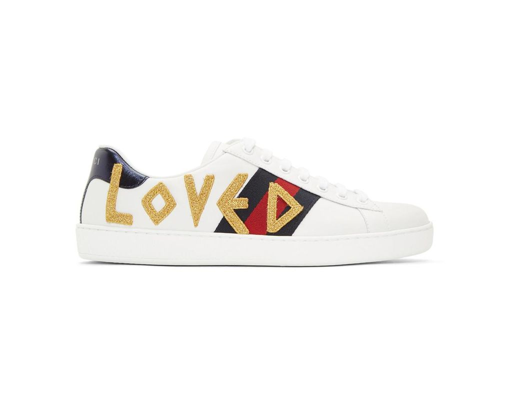 5c0ad1acec8b1 Lyst - Gucci White Loved New Ace Sneakers in White for Men