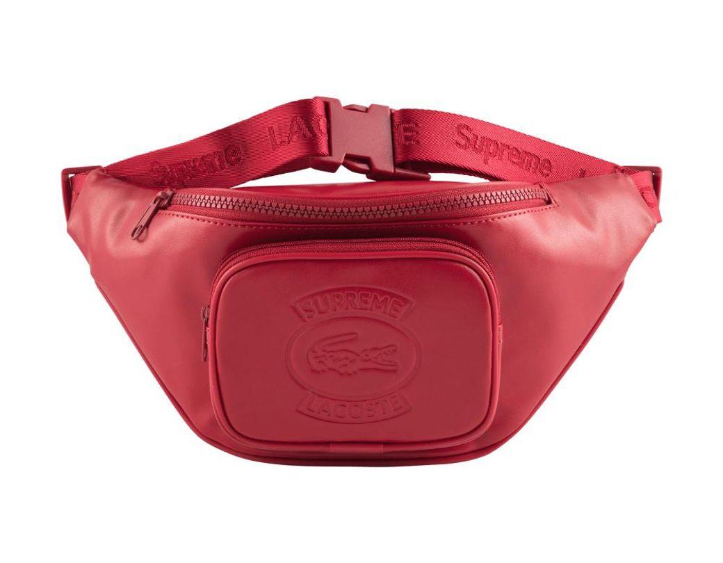 af989fa2eda3 Lyst - Supreme Lacoste Waist Bag in Red for Men