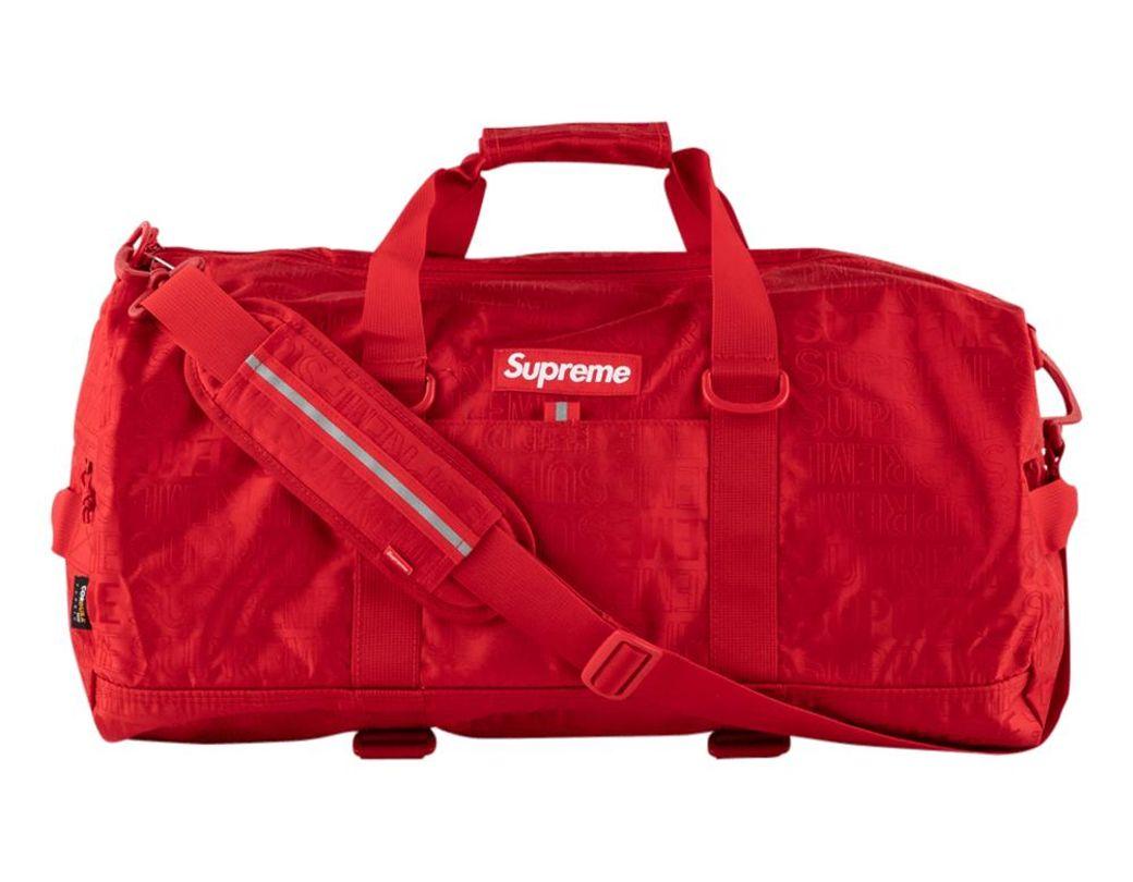 439e4c50241e Lyst - Supreme Duffel Bag in Red for Men
