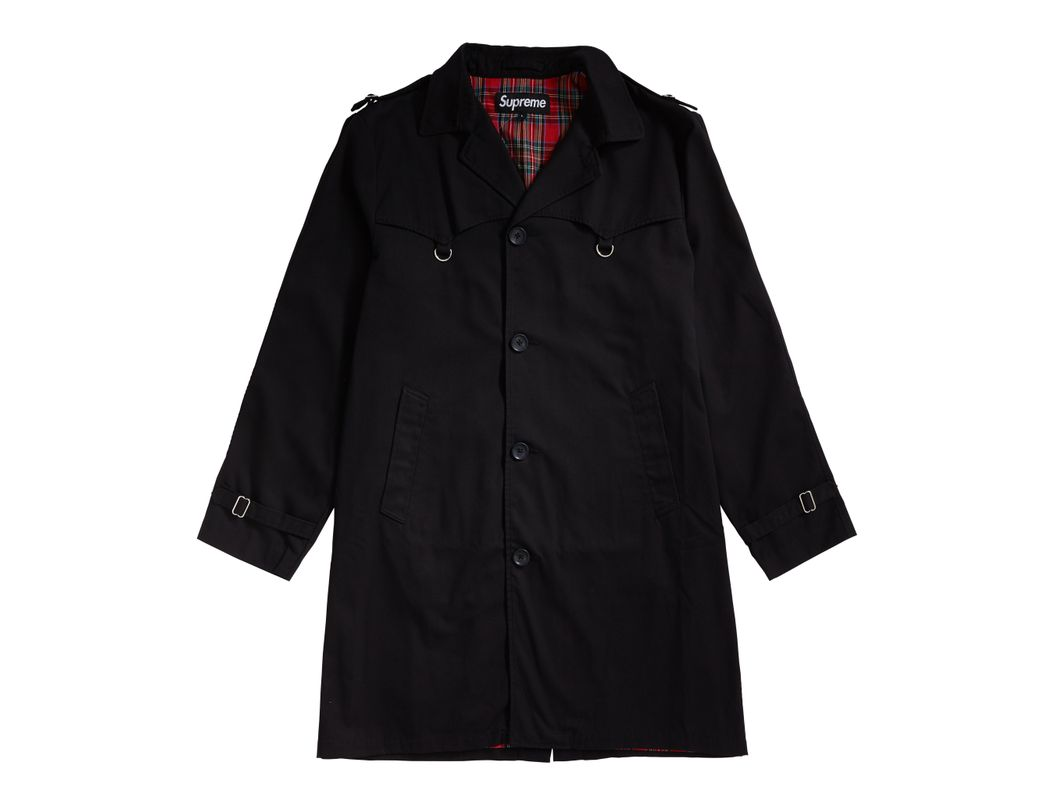 b3a551df Supreme D-ring Trench Coat Black in Black for Men - Lyst
