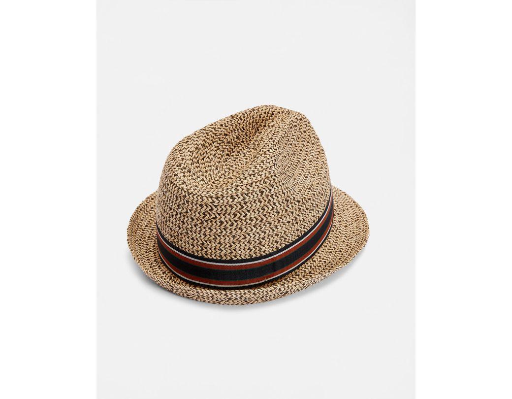 65c14eb56 Men's Natural Textured Trilby Hat