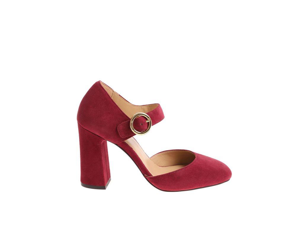 9c5b718288b9 Lyst - Michael Kors Burgundy Alana Pumps in Red