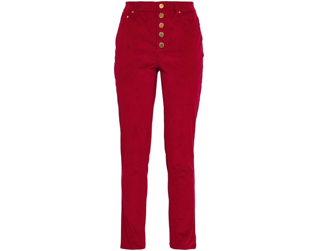 14d576aa09f4c1 MICHAEL Michael Kors Woman Cotton-blend Corduroy Slim-leg Pants ...