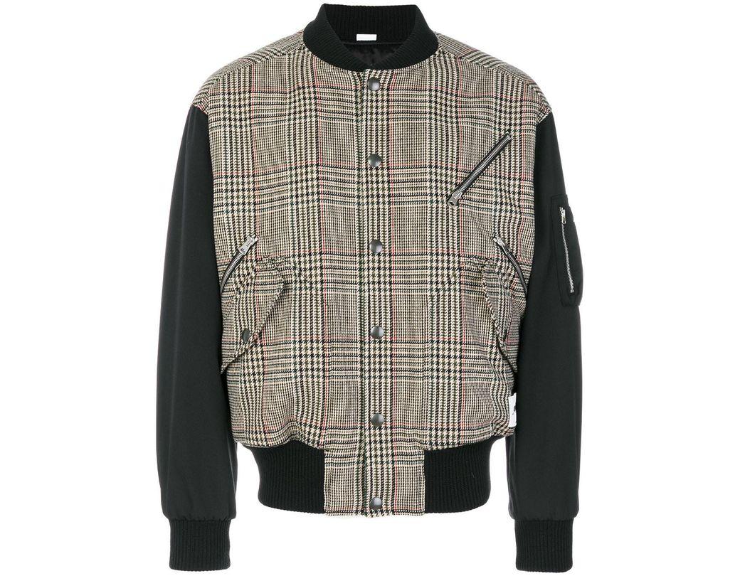 80d00c0cb Lyst - Stella McCartney Checked Wool-blend Bomber Jacket for Men ...