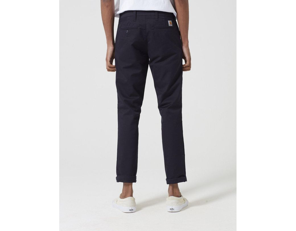 86e3a679 Carhartt Sid Pant Chino (slim) in Blue for Men - Lyst