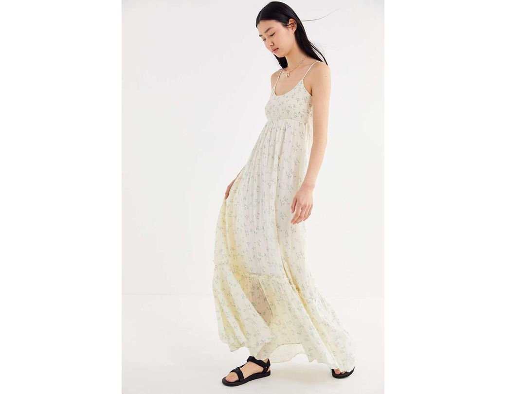 6986335dd0 Lyst - Urban Outfitters Uo Carolina Floral Maxi Dress in Natural