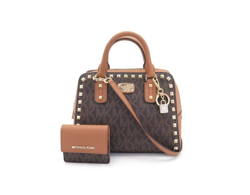 881cc5f71bec Long-Touch to Zoom. Michael Kors - Brown Cloth Handbag ...