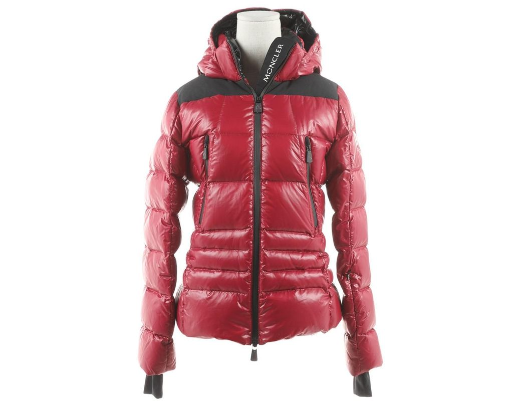Lyst Moncler Red Synthetic Jacket in Red
