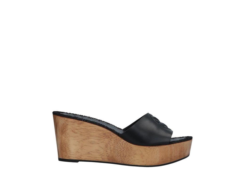 7179b3f2d1e9 Lyst - Tory Burch Sandals in Black - Save 48%