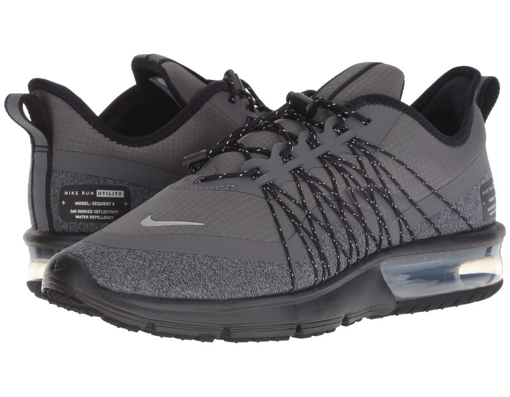 01ae55bbf0cd4 Nike. Air Max Sequent 4 Shield (dark Grey metallic Silver black) Women s  Running Shoes
