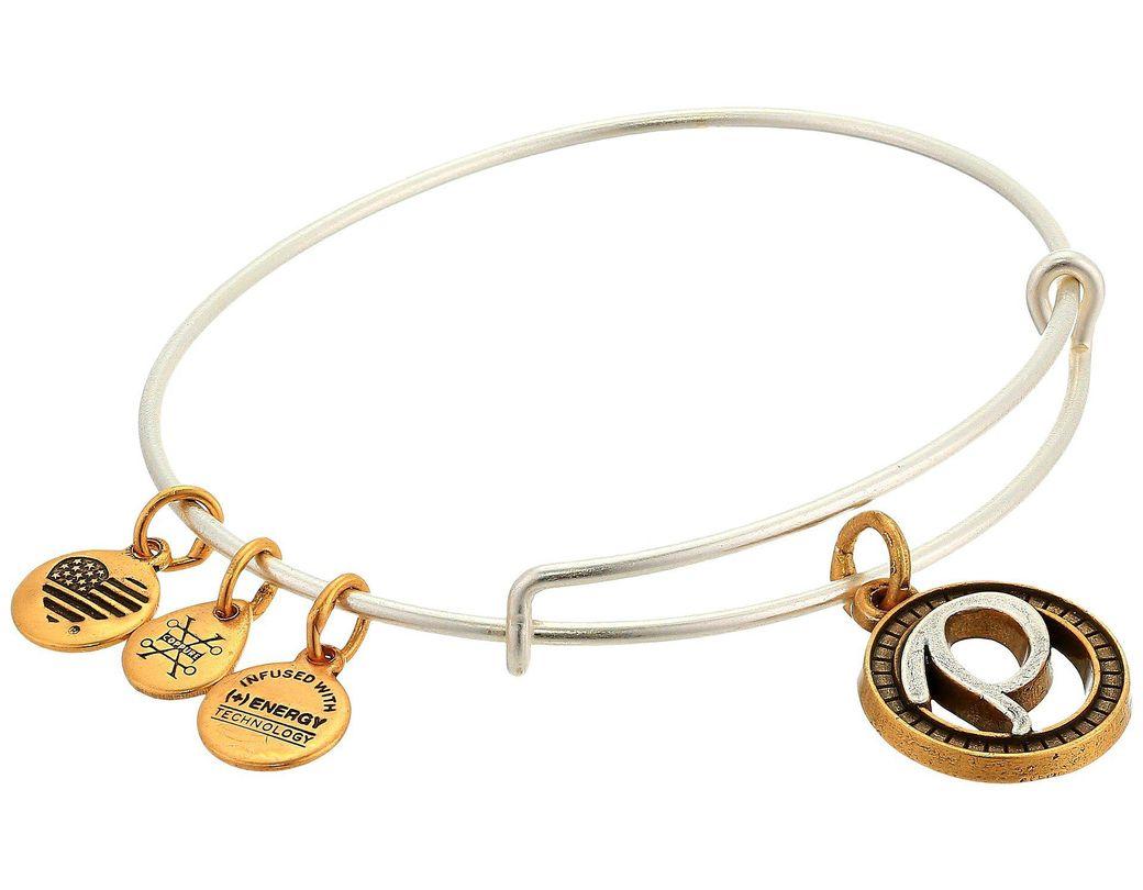 aae26eb1920 ALEX AND ANI. Women's Metallic Initial P Charm Bangle (two-tone) Bracelet
