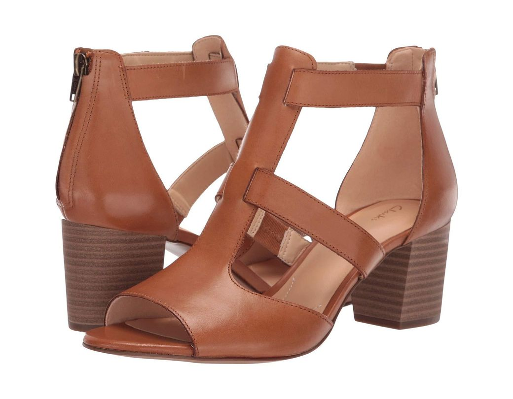 298430fdc3 Lyst - Clarks Deloria Fae (tan Leather) High Heels in Brown