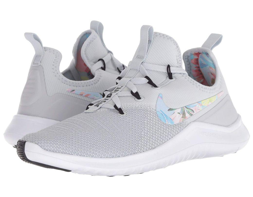 ca38a21c96814 Nike. Free Tr 8 Print (pure Platinum pure Platinum black) Women s Cross Training  Shoes