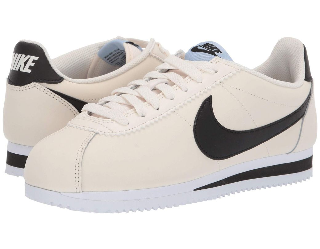 9fbfe1e4c067 Lyst - Nike Classic Cortez Leather (white black white) Women s Shoes ...