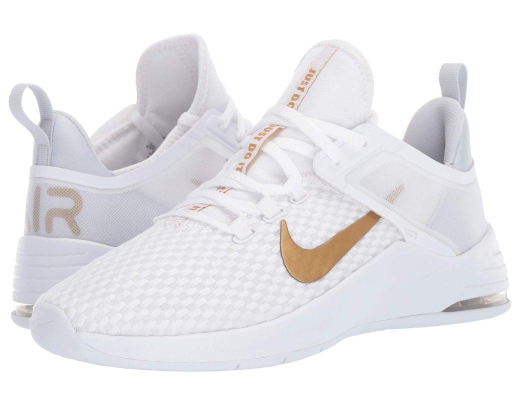 97368f224833 Nike. Air Max Bella Tr 2 (white metallic Gold pure Platinum) Women s Cross Training  Shoes