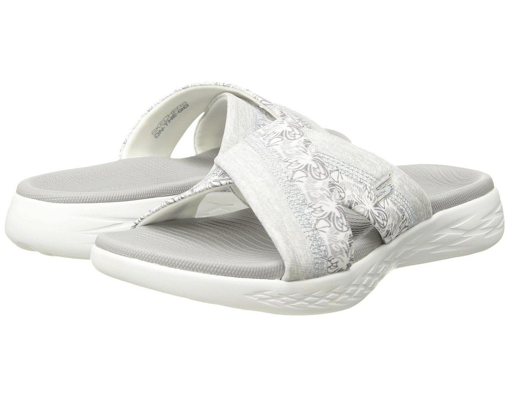 b4cfaab9f0d8 Lyst - Skechers On-the-go 600 - Monarch (black) Women s Sandals in White