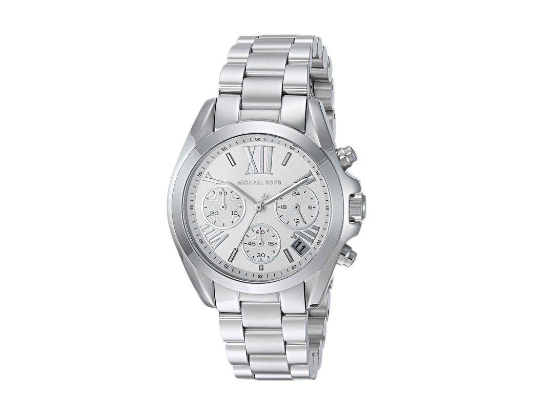 85137b12b927 Lyst - Michael Kors Mk6174 - Mini Bradshaw (silver) Watches in Metallic