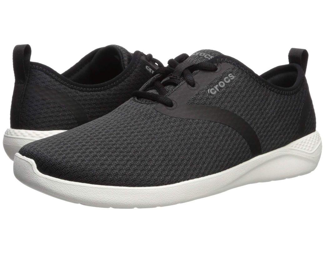 6679532f1b2a Lyst - Crocs™ Literide Mesh Lace (black white) Men s Shoes in Black ...