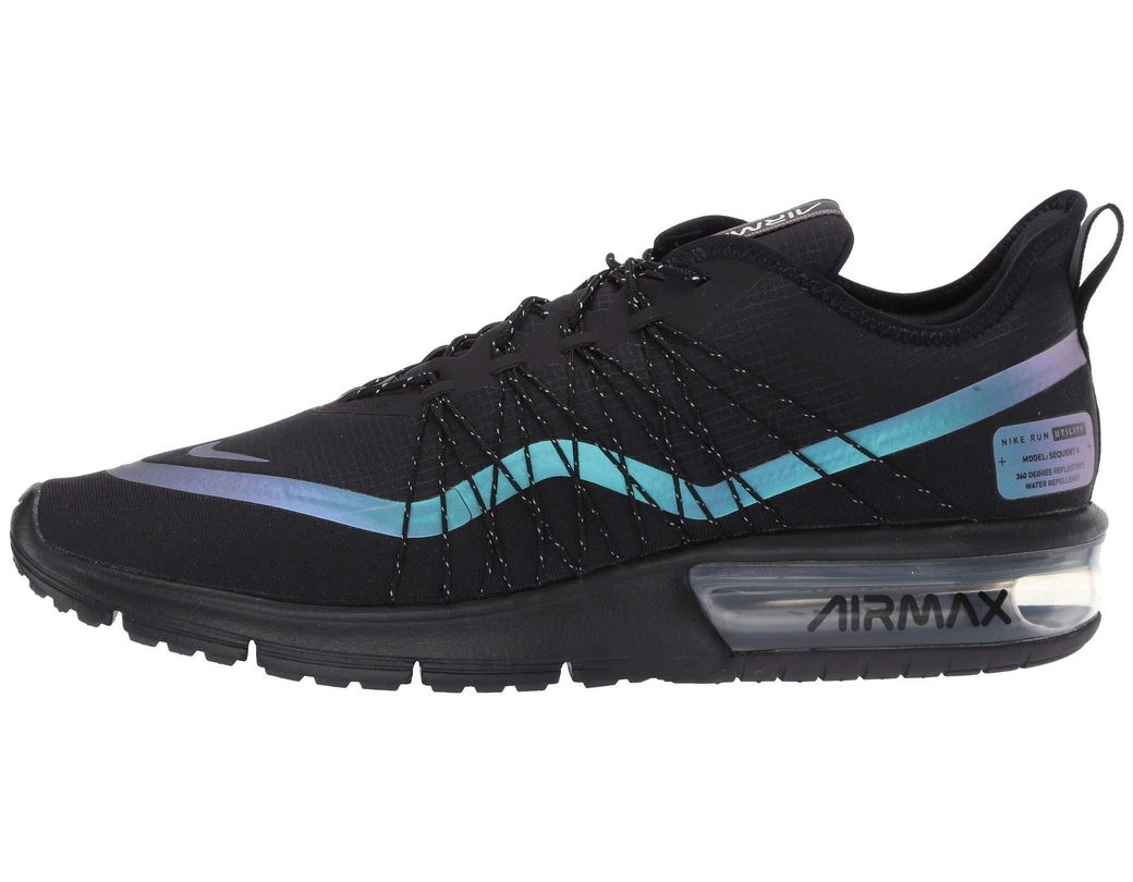 825ed23647 Nike Air Max Sequent 4 Shield (black/metallic Silver/dark Grey) Men's  Running Shoes in Black for Men - Lyst