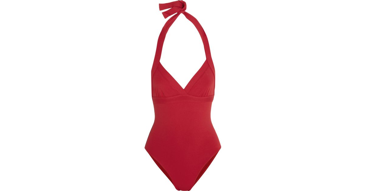 031c54ca999db Eres Les Essentiels Cassis Halterneck Swimsuit in Red - Lyst