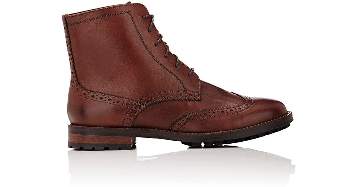 barneys new york s balmoral combat boots in brown