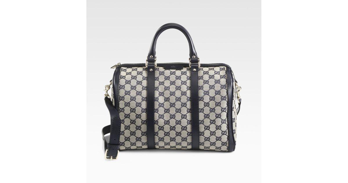 be4d8efcb6b Lyst - Gucci Vintage Web Original Gg Canvas Boston Bag in Gray