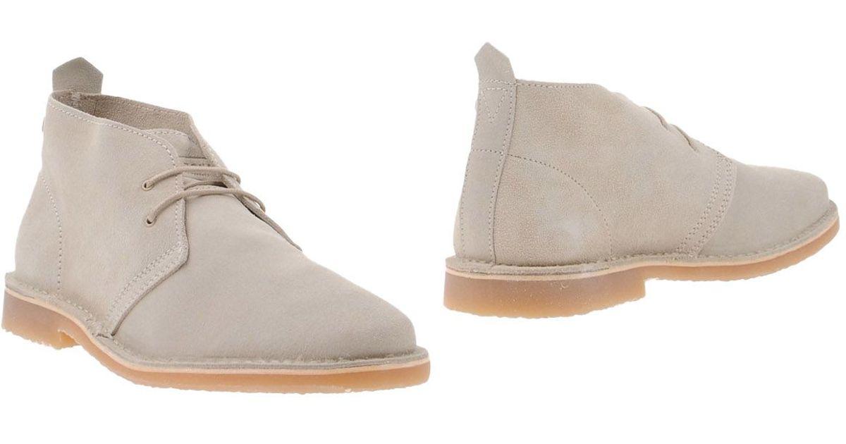 jack jones ankle boots in natural for men lyst. Black Bedroom Furniture Sets. Home Design Ideas