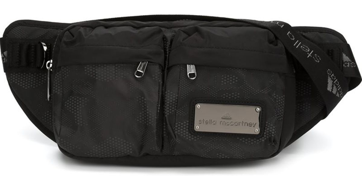 5d28b0dc83ec Lyst - adidas By Stella McCartney Zipped Bum Bag in Black
